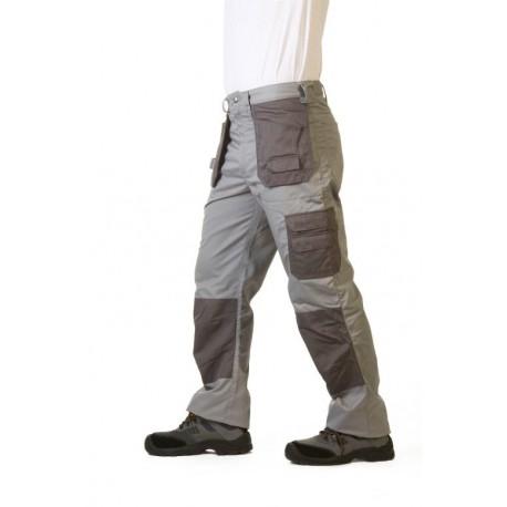 Pantalon de trabajo multibolsillos tipo cargo y rodilleras for Pantalones de trabajo multibolsillos