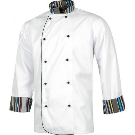 b3c3301a6ce chaqueta cocina estampada rayas Workteam